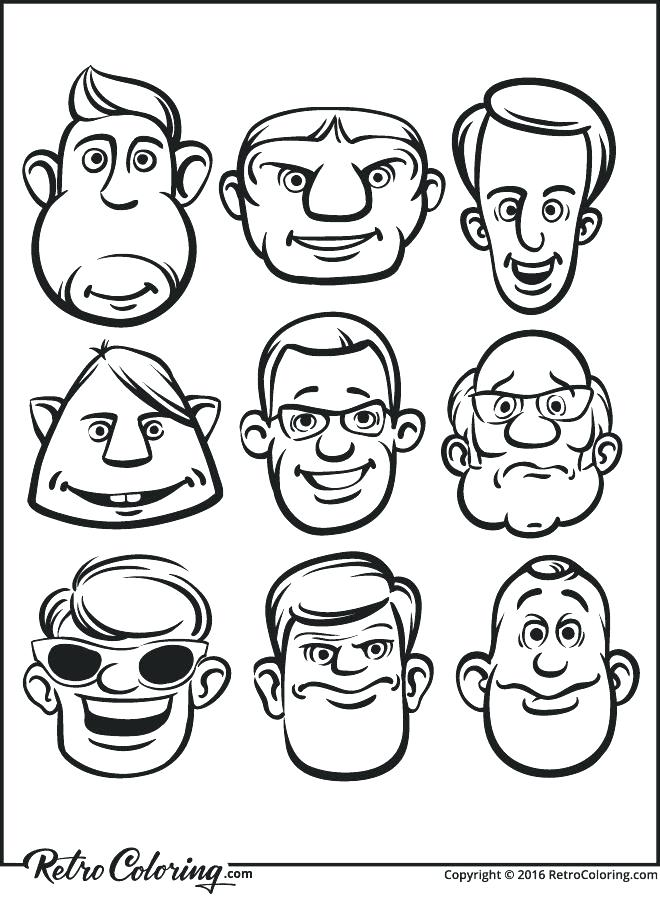 660x900 Two Face Coloring Pages Funny Faces Coloring Pages Two Face Funny