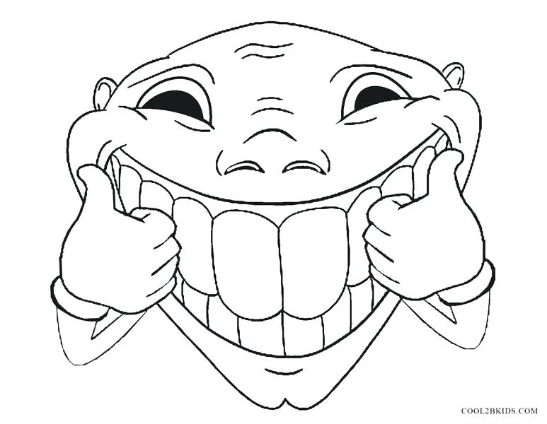 773x600 Unique Funny Coloring Pages For Kids Or Funny Face Coloring Pages