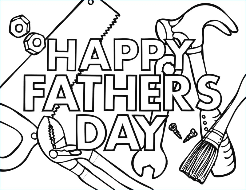 Funny Fathers Day Coloring Pages