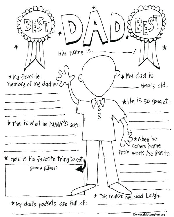 600x746 Free Printable Fathers Day Coloring Page Is For The Best Dad So