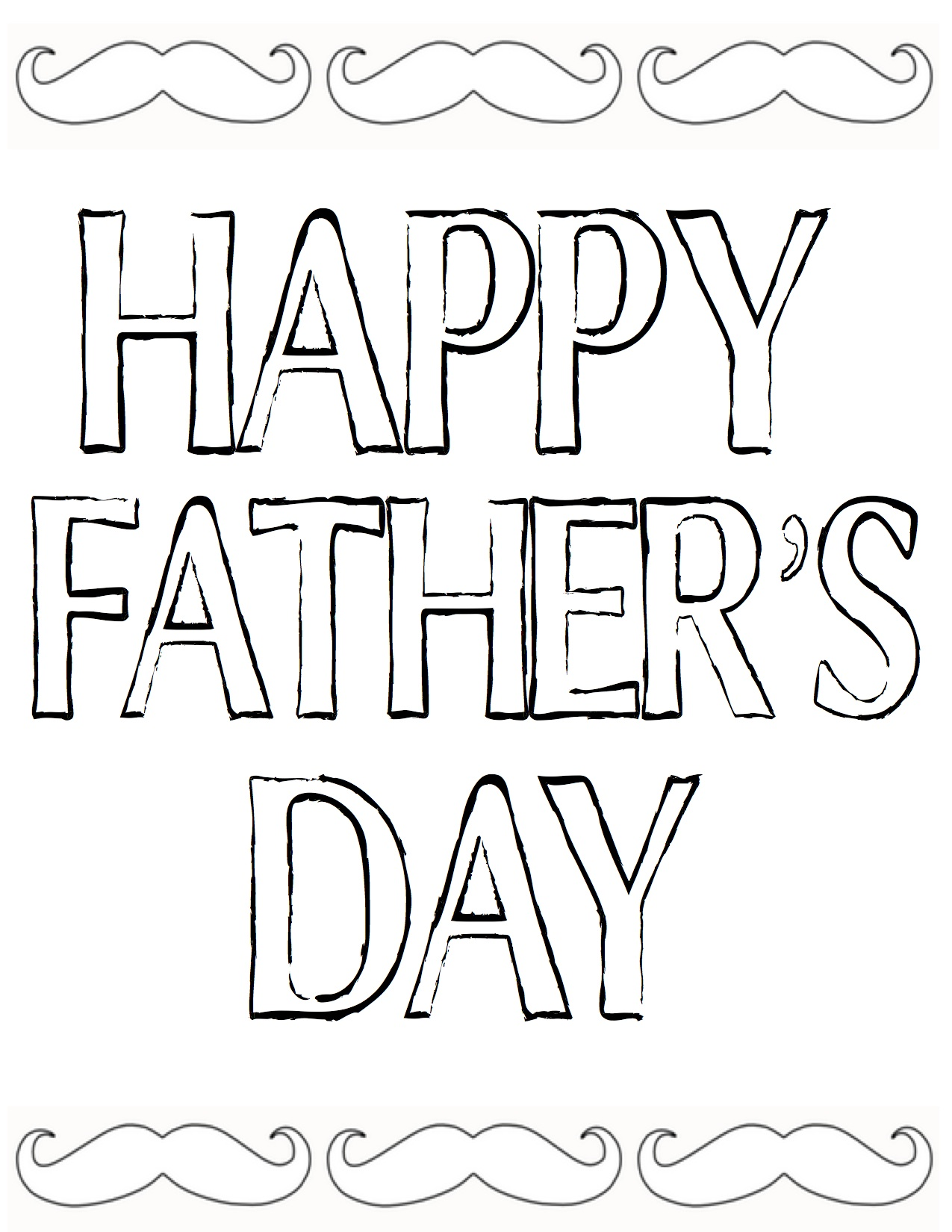 1275x1650 Happy Father's Day Printable