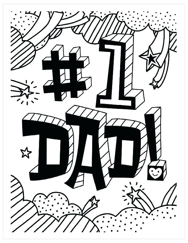612x792 Printable Fathers Day Coloring Pages Happy For Dads Free Page