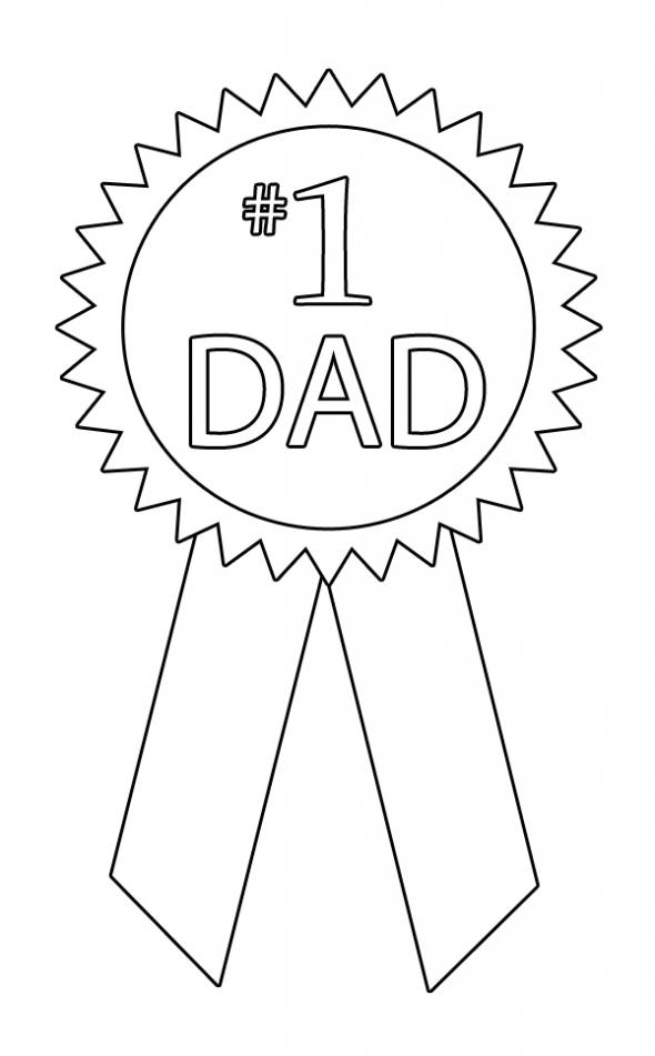 590x951 Dad Ribbon Coloring Page Happy Fathers Day And Fathers Day