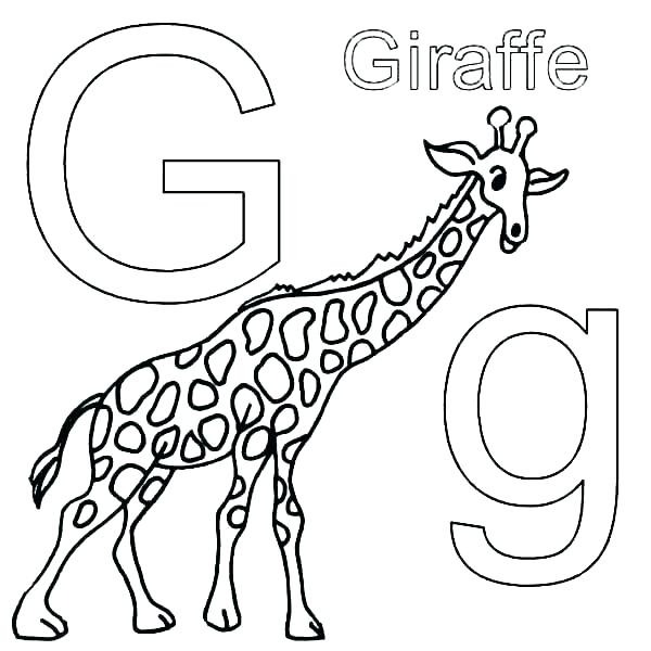 600x600 Cute Giraffe Coloring Pages Giraffe Coloring Page Giraffe Coloring