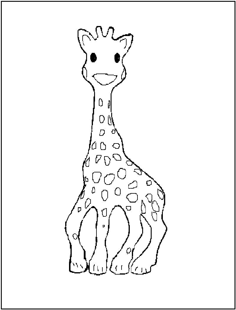 800x1050 Free Printable Giraffe Coloring Pages For Kids