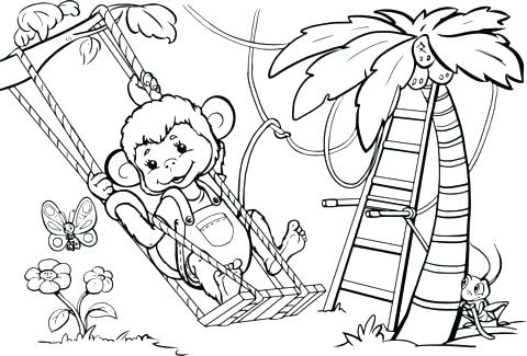 480x325 Monkey Coloring Pages Printable Monkey Coloring Pictures Monkey