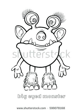 348x470 Halloween Monster Coloring Pages Big Monster Coloring Book Cute