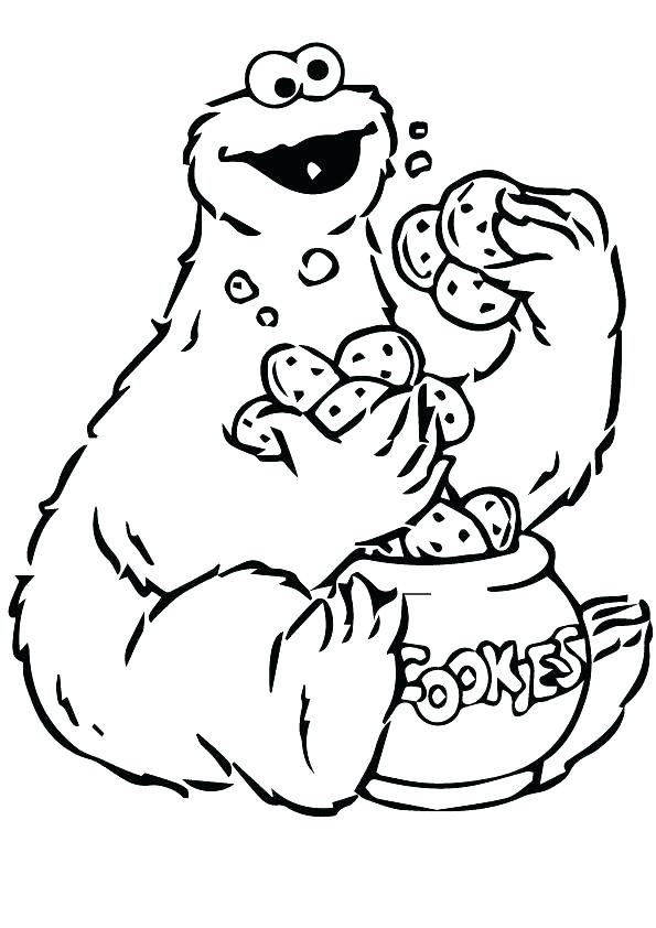 595x842 Cookie Monster Coloring Pages Cookie Monster Coloring Page Funny
