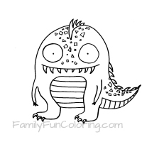 200x200 Monster Coloring Pages
