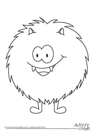 320x452 Monster Colouring Pages
