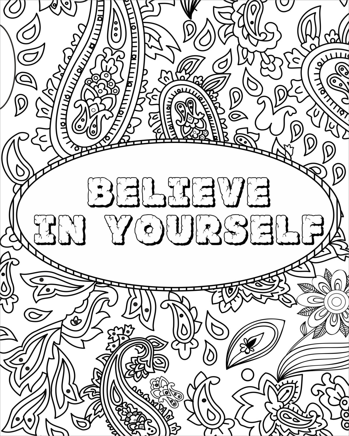 1200x1500 Fancy Design Inspirational Quotes Coloring Pages Adult Page Funny