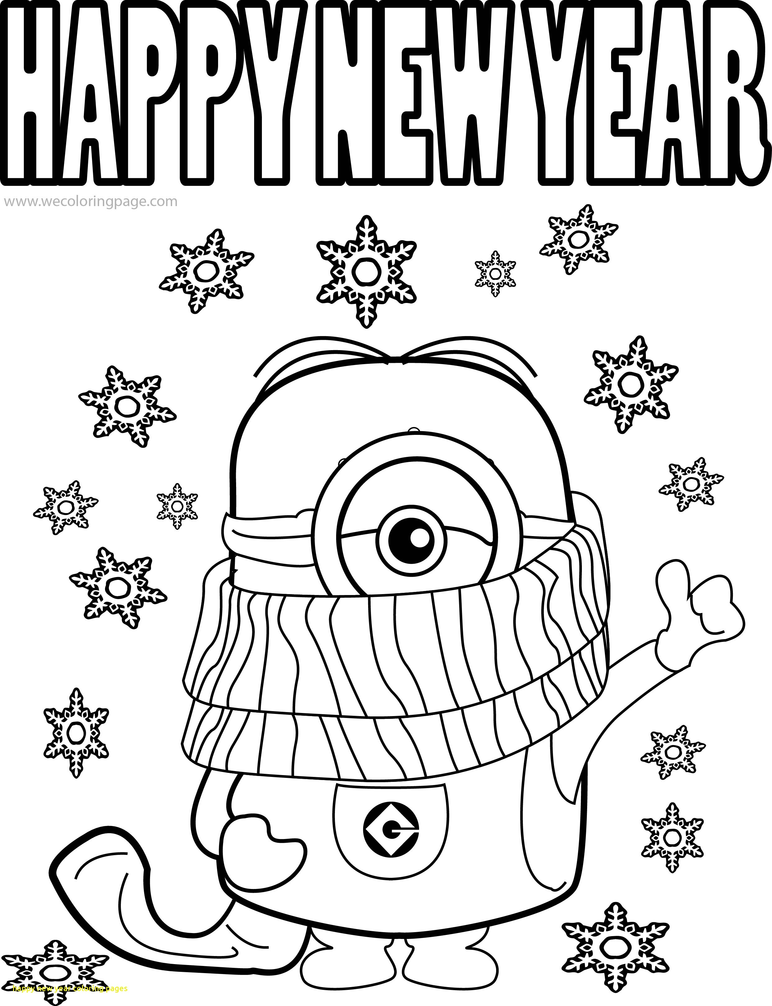 2485x3241 Happy New Year Coloring Pages With Best Funny Minions Quotes