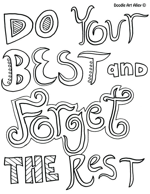 618x799 Inspirational Quotes Coloring Pages And Fun Quote Coloring Pages