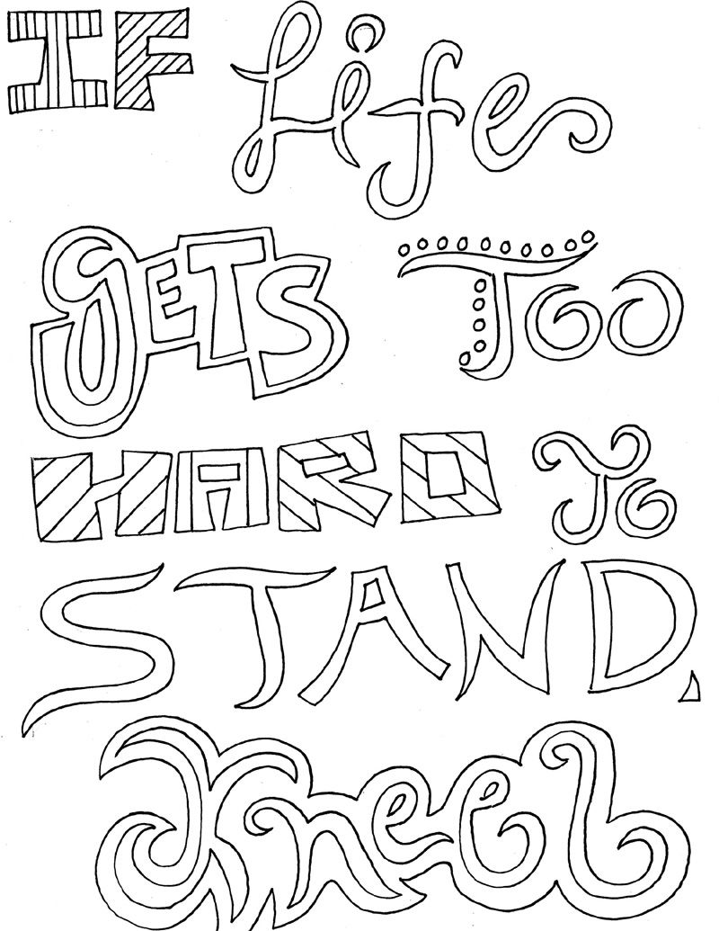 800x1035 Inspirational Quotes Coloring Pages For Adults Httpprocoloring