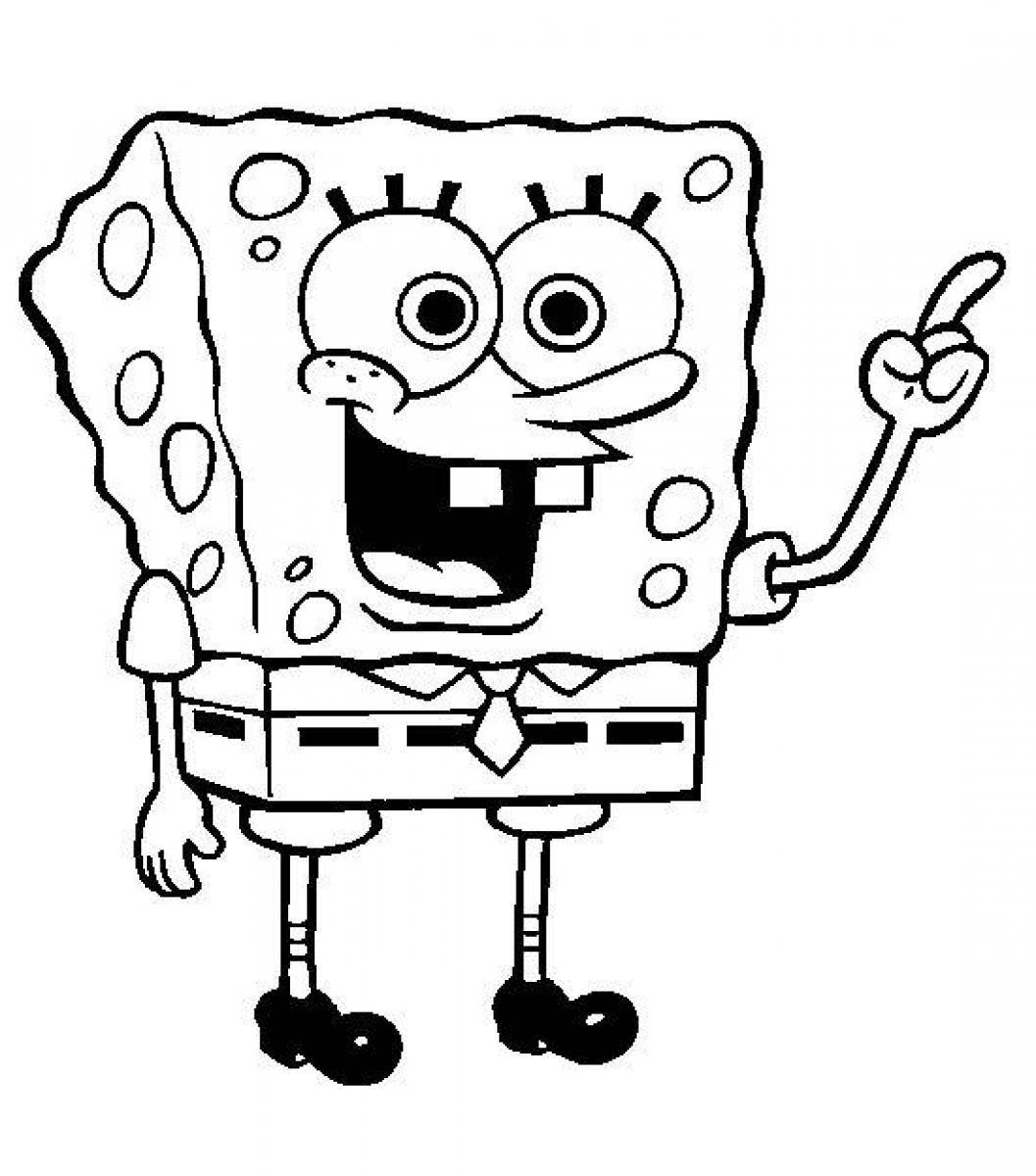 1057x1200 Last Minute Spongebob Outline Squarepants Colo