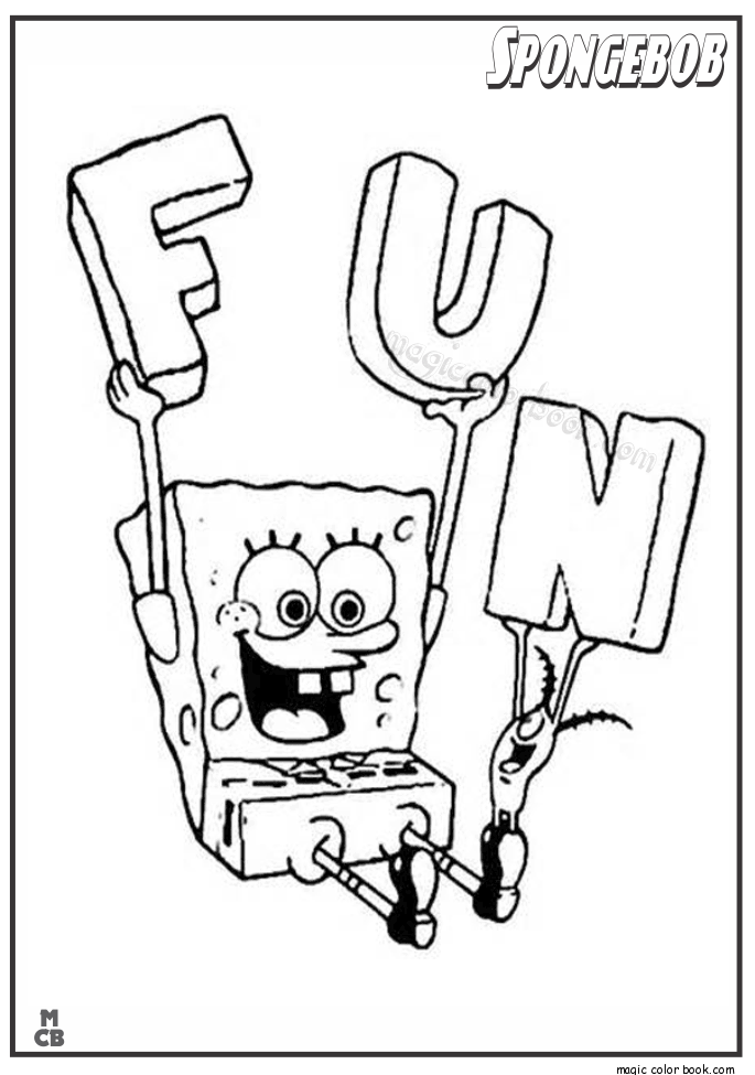 685x975 Spongebob Fun Coloring Pages