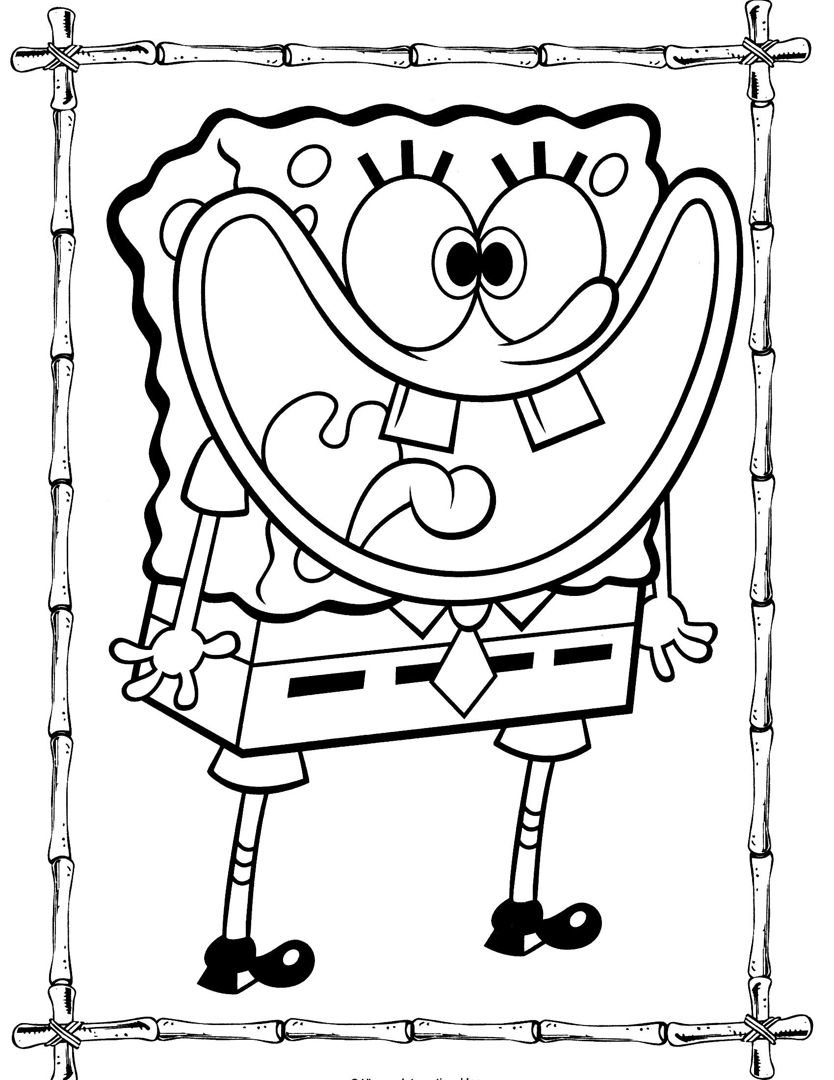 1700x2200 Spongebob Squarepants Coloring Pages Luxury Funny Spongebob