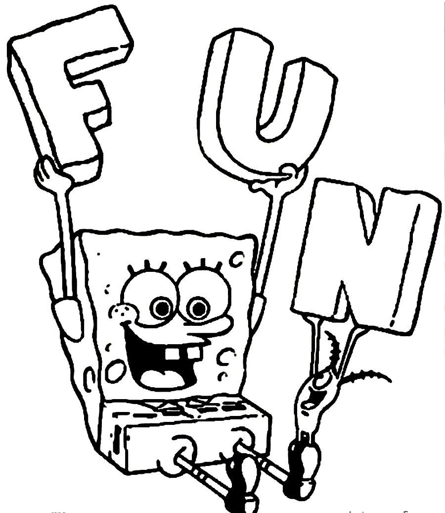 900x1036 Spongebob Coloring Pages For Boys