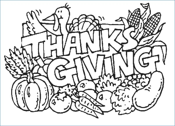 600x433 Funny Turkey Thanksgiving Coloring Pages