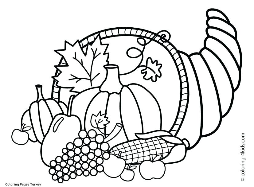 827x609 Free Printable Thanksgiving Turkey Coloring Page For Kids Happy