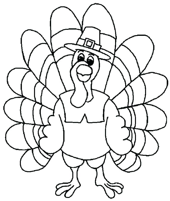 709x836 Turkey Coloring Pages Preschoolers Turkey Coloring Pages