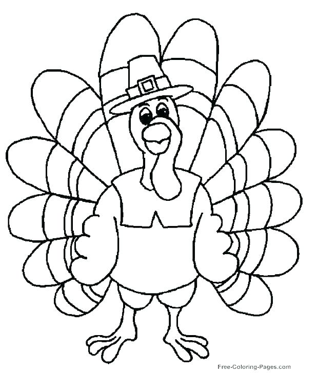 618x728 Turkey Coloring Picture Free Turkey Coloring Pages Best Turkey