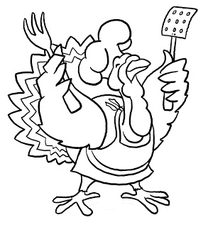293x320 Funny Thanksgiving Turkey Coloring Pages Coloring Pages Online