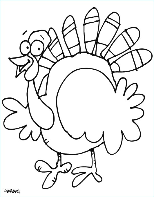 531x679 Funny Turkey Thanksgiving Coloring Pages