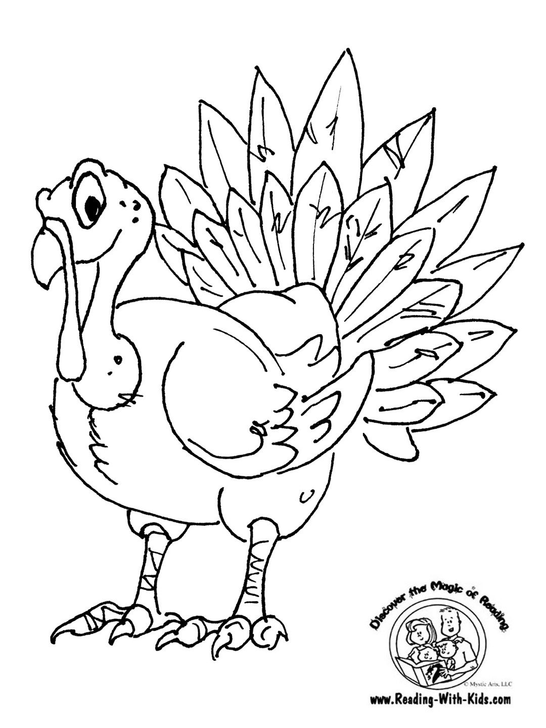 1080x1440 Thanksgiving Turkey Coloring Pages