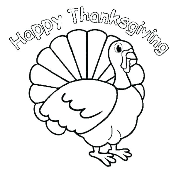 600x583 Funny Thanksgiving Coloring Pages