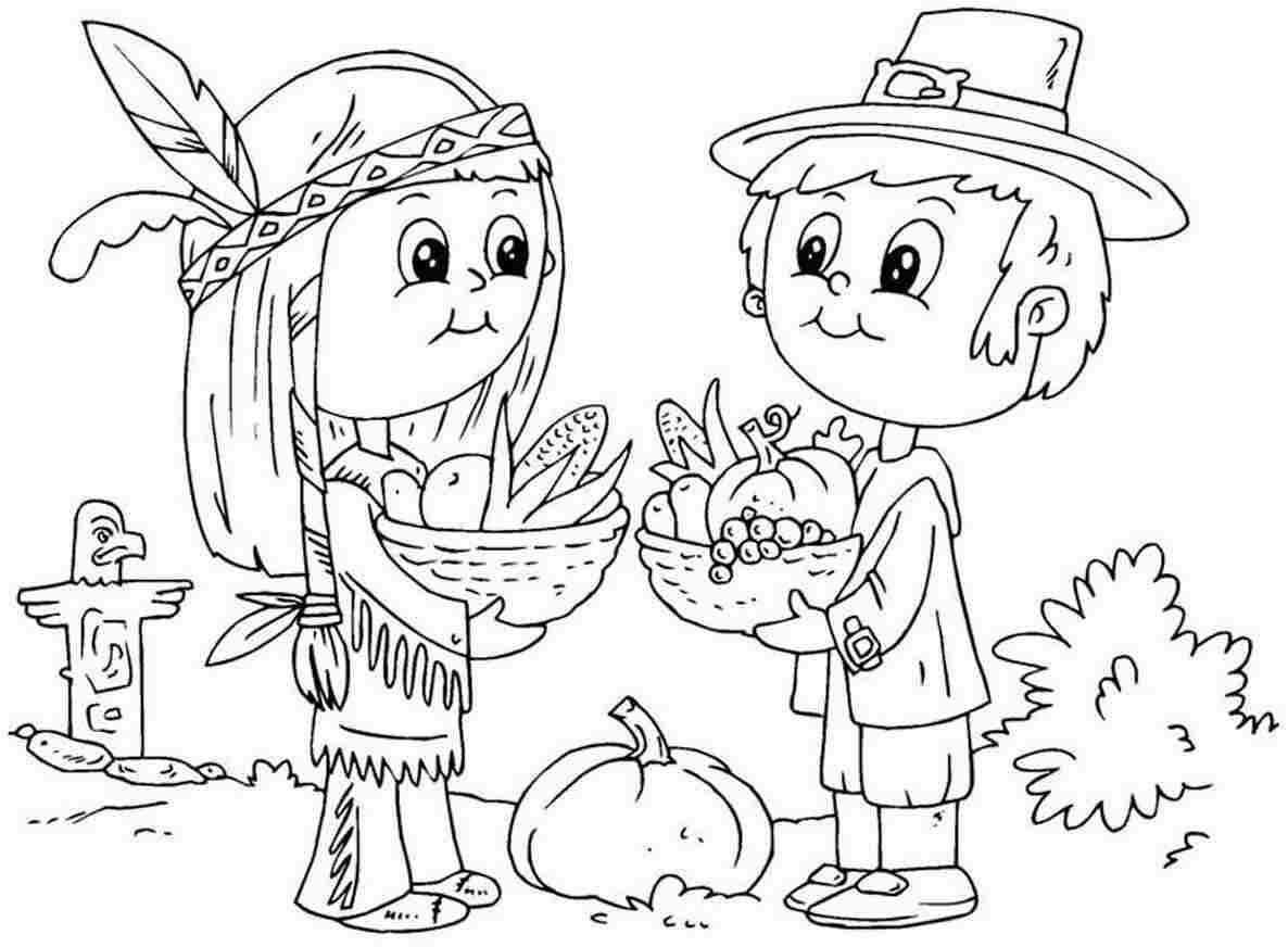 1186x872 Free Printable Thanksgiving Coloring Pages