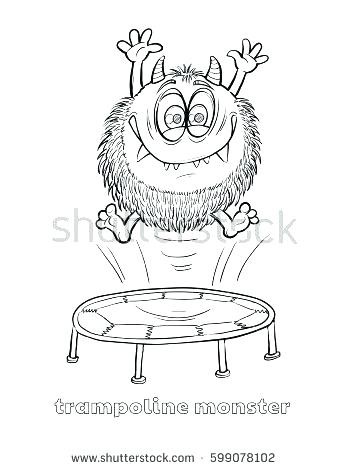348x470 Cute Monster Coloring Pages Furry Monster Furry Monster Coloring