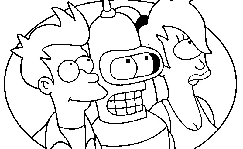 800x493 Futurama Coloring Pages In Remodel