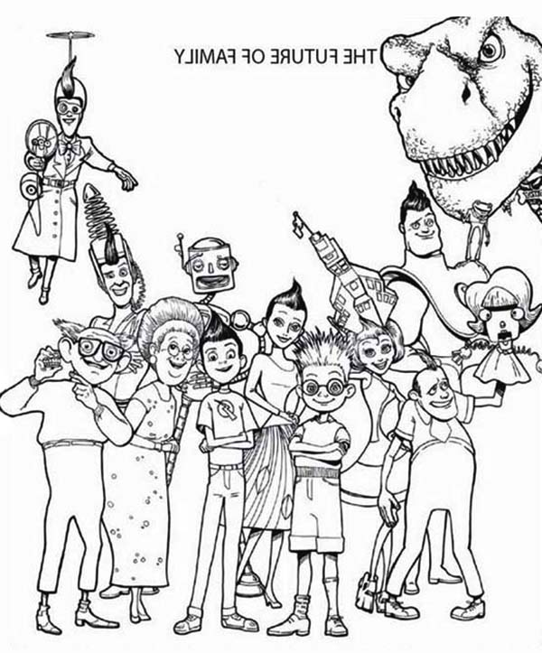 600x723 Meet The Robinsons The Future Of Family Coloring Pages Preschool
