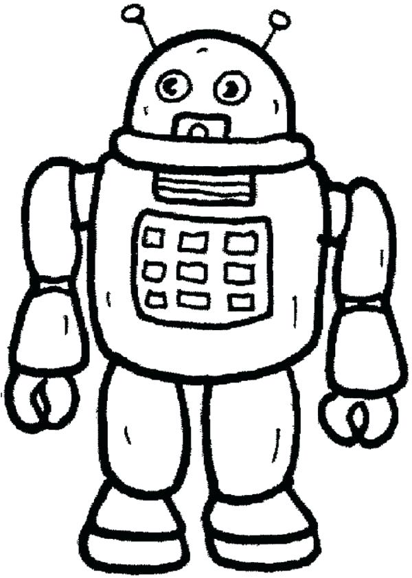 600x842 Robot From Future Toys Coloring Pages Robot From Future Toys Robot