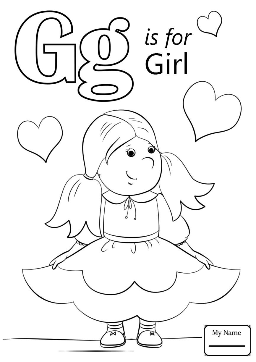 866x1224 Letter G Coloring Page
