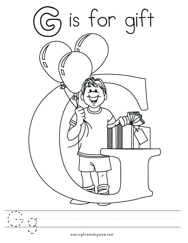 612x790 Letter G Coloring Pages Letter G Coloring Sheet Letter G Coloring