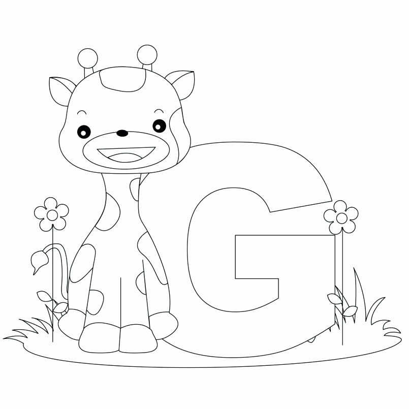 805x805 Alphabet Coloring Pages Pdf Collection Letter G Coloring Page