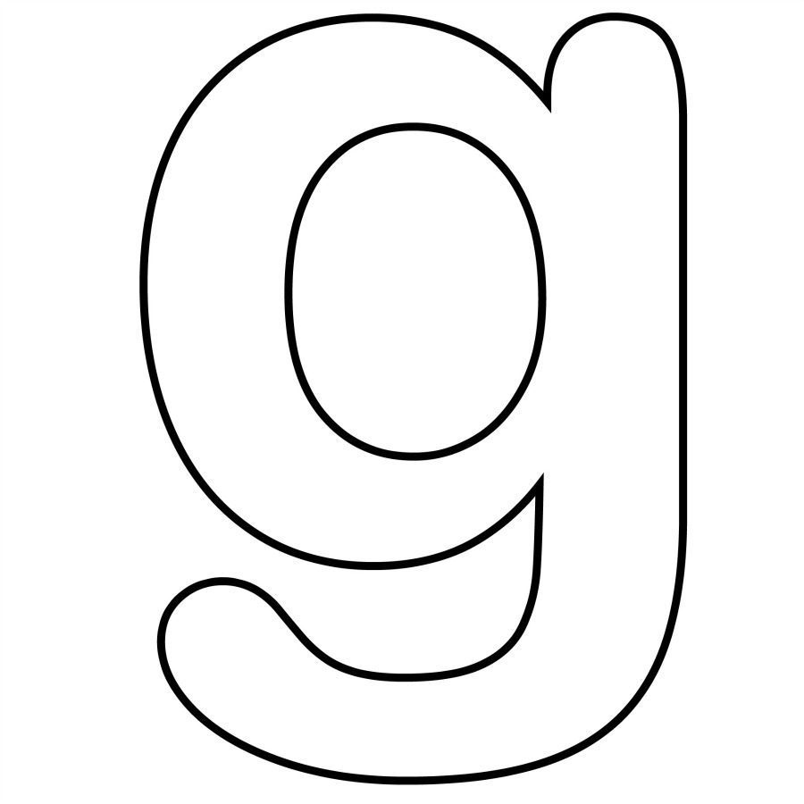 900x900 Letter G Coloring Pages And Pictures To Color