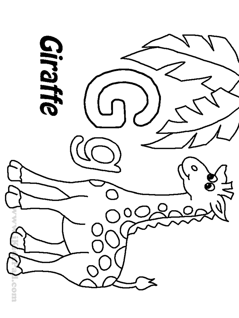 768x1024 Letter G Coloring Pages For Kids