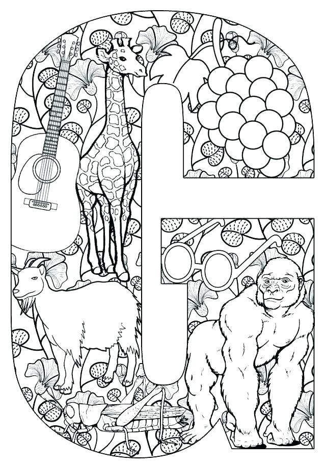 640x912 Letter G Coloring S On Coloring Page Letter A Pages Printable L
