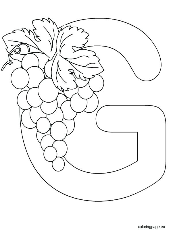 595x804 G Coloring Page Alphabet Letter G Coloring Pages For Adults Quotes
