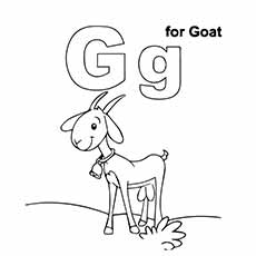 230x230 Top Free Printable Letter G Coloring Pages Online