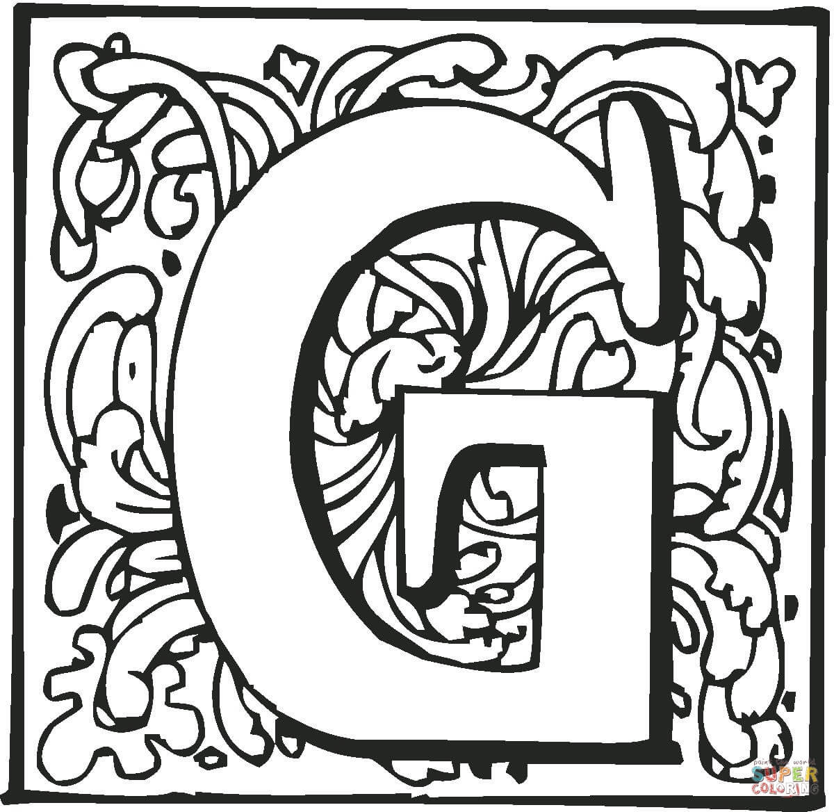 1200x1168 Letter G Coloring Pages Free Coloring Pages Letter G Coloring Page