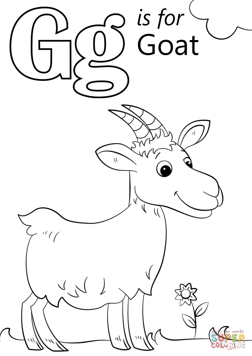 849x1200 Letter G Is For Goat Coloring Page Free Printable Coloring Pages