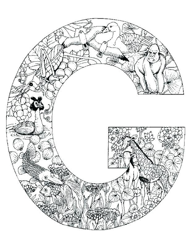 618x800 G Coloring Pages For Kids Kids Under Letter G Worksheets