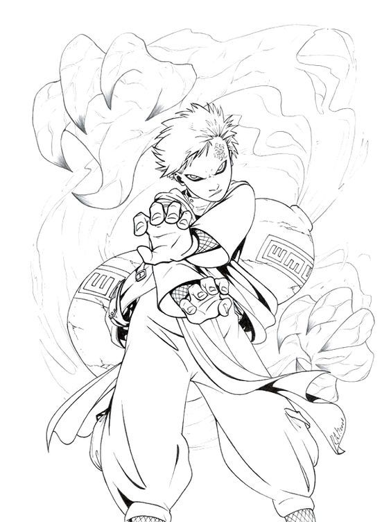 564x752 Free Printable Naruto Coloring Pages For Kids Lineart Naruto