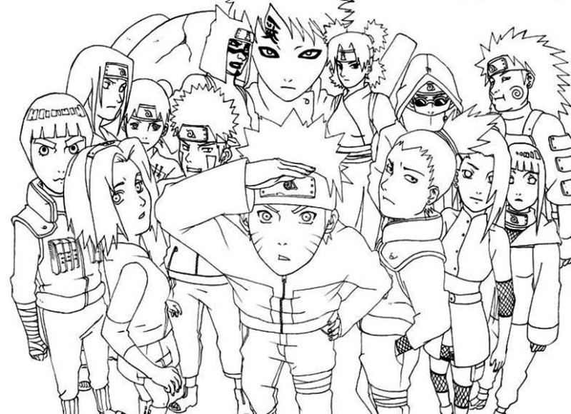 800x580 Naruto Colored Pages Awesome Naruto Shippuden Coloring Page