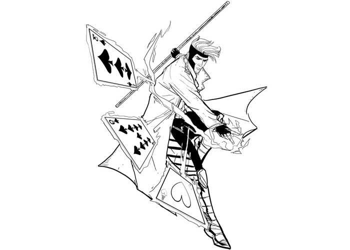700x500 Gambit Coloring Pages