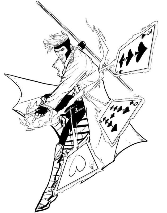 707x900 Coloring Pages Gambit, Printable For Kids Adults, Free